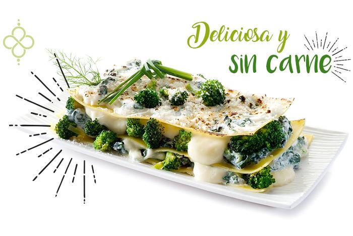 Receta de lasaña vegetariana con espinacas