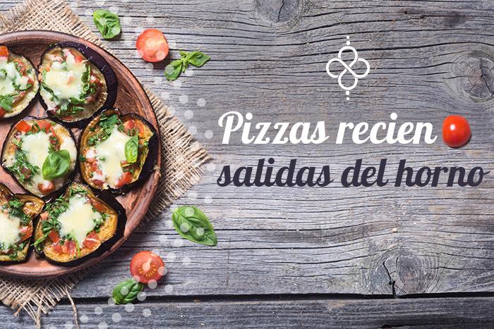 Receta de pizza vegetariana con berenjena