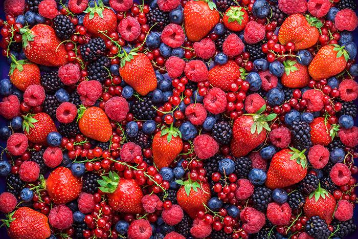 frutos rojos para desayunar